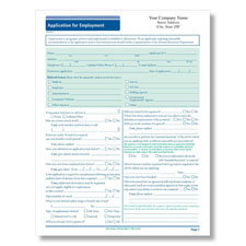 Job Application Long Form - Imprinted