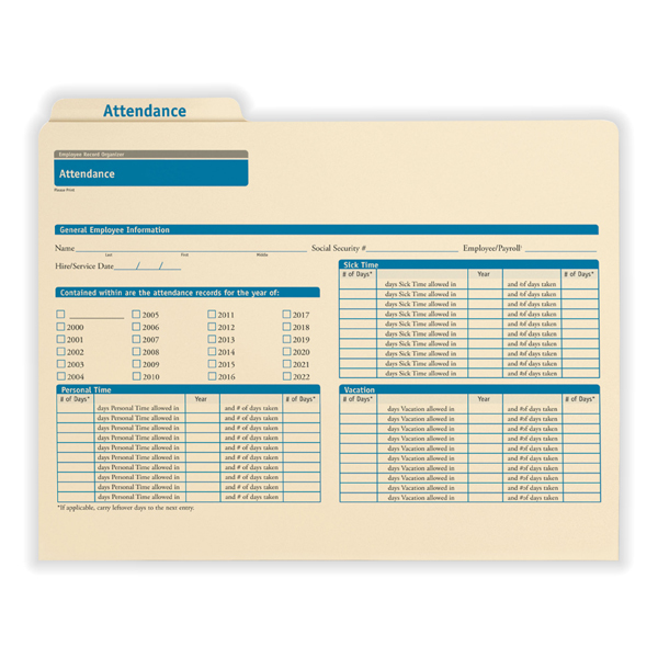 Employee Attendance Record Organizer - an All-in-One Solution