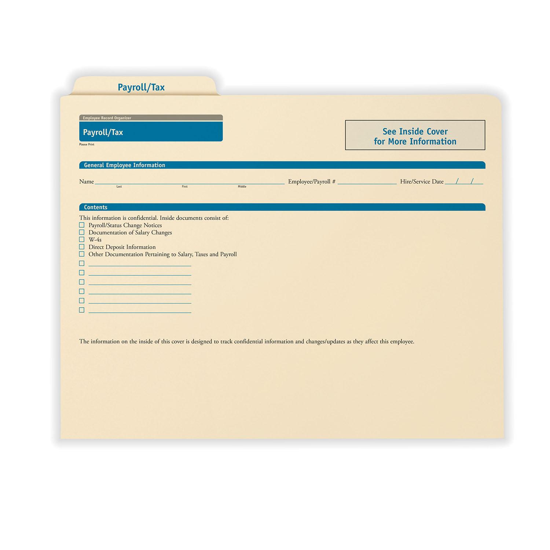 Payroll Records Organizer | Employee Payroll Folders