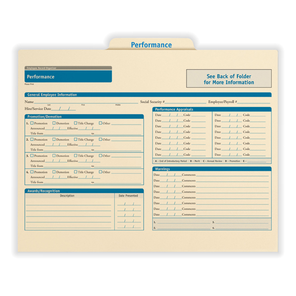 Employee Performance Record Organizer for Performance Reports