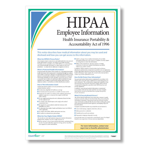 HIPAA Employee Information Poster