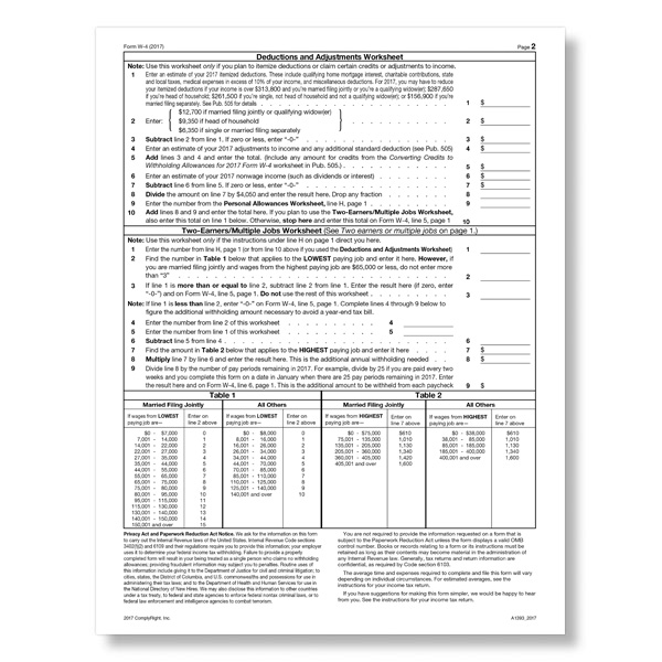 W-4 Forms For New Hires