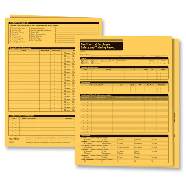 Employee Safety Records Folders | Employee Records