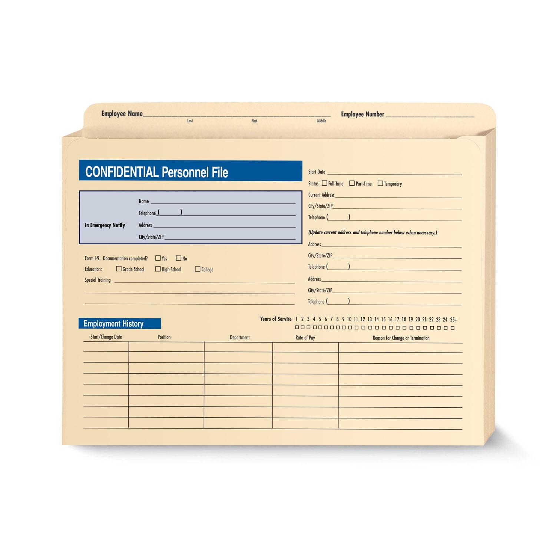 Confidential Personnel Files Expandable