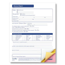Absence Report Form - 3-part