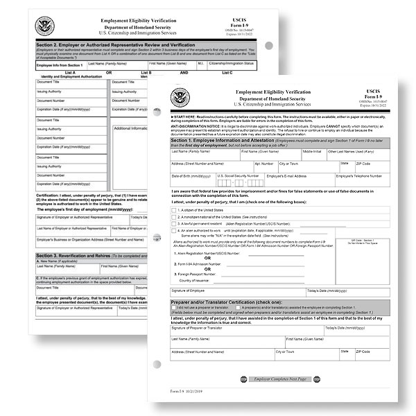 I-9 Forms in Digital Format for Download and Filing