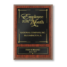 Traditional Employee of the Month Individual Plaque