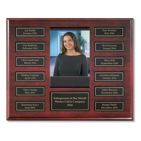 employee of the month program with magnetic plates