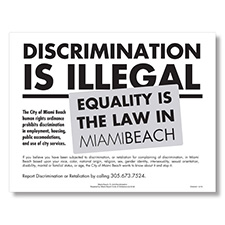 Miami Beach, FL Anti-Discrimination Poster