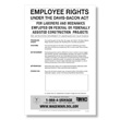 Employee rights under the Davis-Bacon Act labor law poster