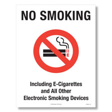 No E-Cigarettes Poster