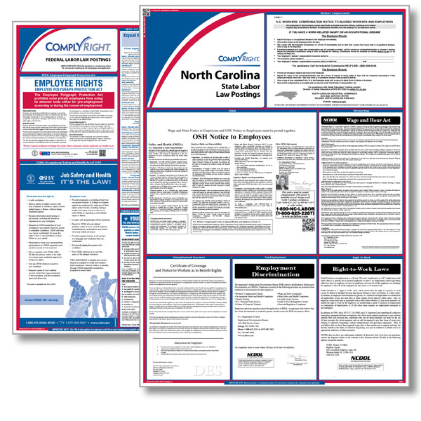 required labor law posters nc