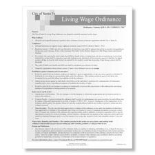 Santa Fe Living Wage Ordinance Poster