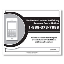 Pennsylvania Human Trafficking Poster