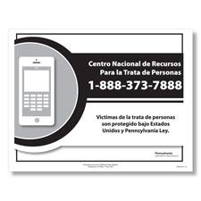 Pennsylvania Human Trafficking Poster Spanish