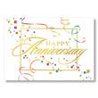 Anniversary Streamers Employee Anniversary Card