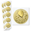Add a little something extra to a business birthday card with gold foil seals