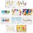 Balloons and Streamers Birthday Card Assortment