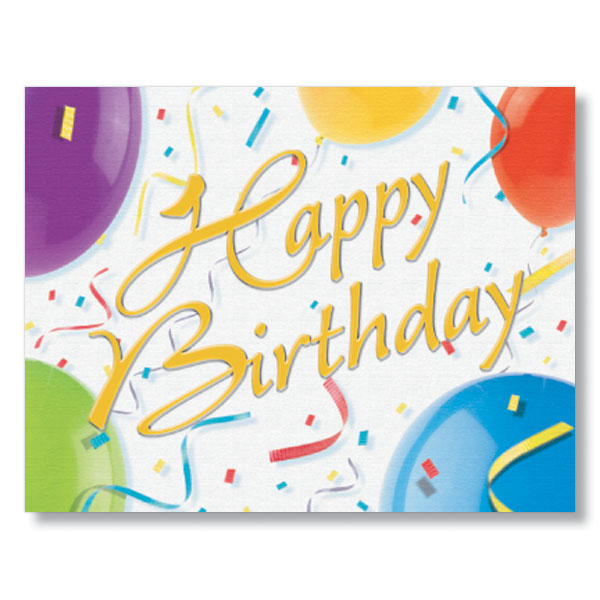 Happy Birthday Balloons Cards for Employees