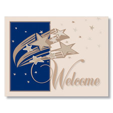 Starry Welcome Card