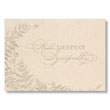The Sincere Sympathy Card Offers Quiet Sophistication