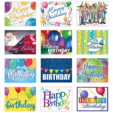 Personalized Happy Birthday Card Assortment