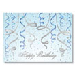 Check out this Blue and Silver Birthday Streamers postcard.