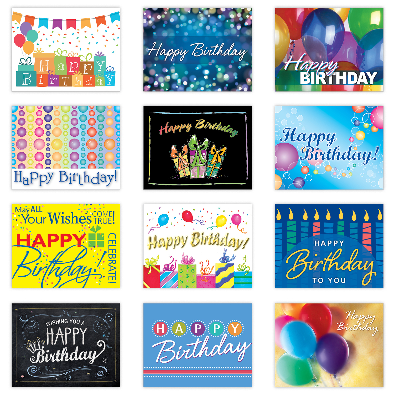 Variety Birthday Card Assortment – Assorted Birthday Cards