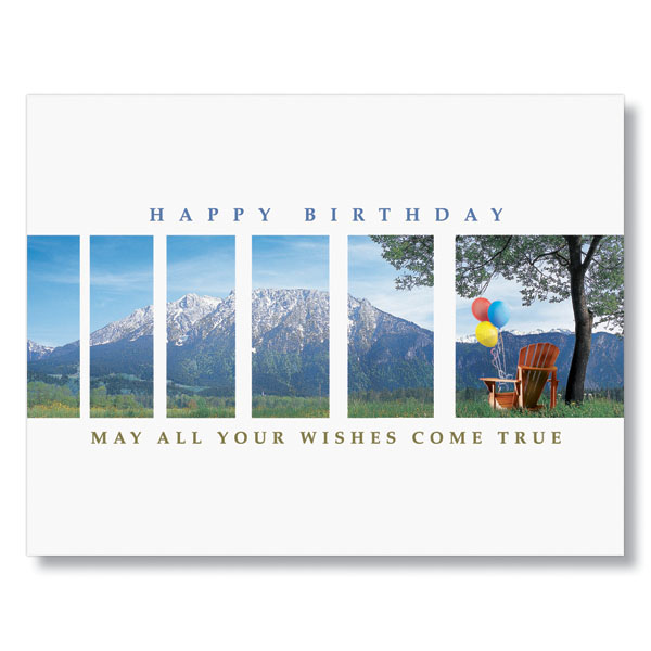 Happy Birthday Mountains Card for Office Birthdays – Mountain Birthday Cards