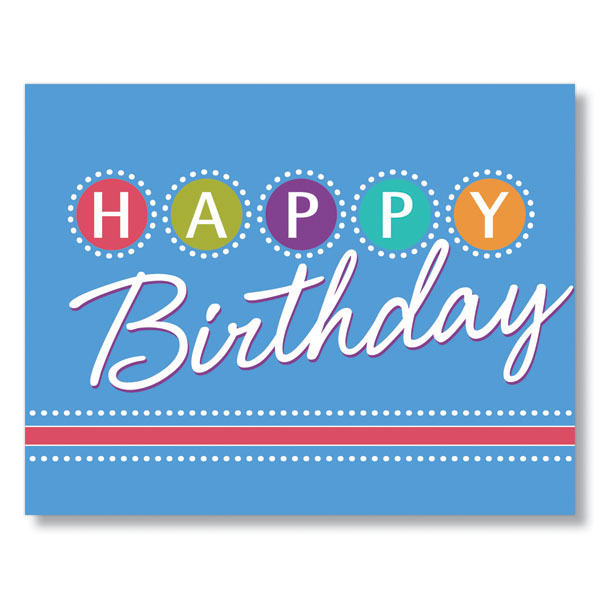 Birthday Lights Birthday Card for Employees, Clients and Vendors