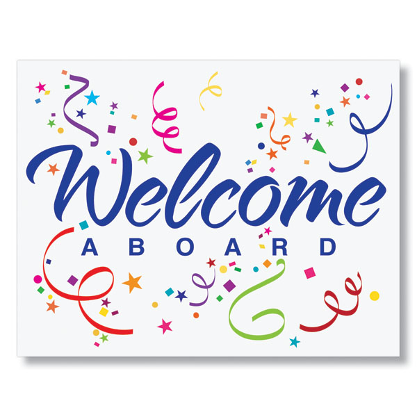 New employee welcome card romeondinez new employee welcome card welcome confetti card thecheapjerseys Choice Image