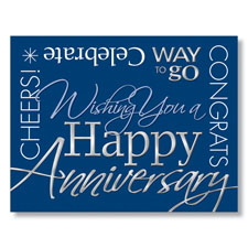 Contemporary Anniversary Card