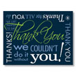 Gratitude Goes Bold with the Contemporary Thank You Card