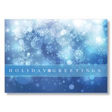 Soft Holiday Snow Greetings Holiday Card