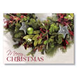 Oldtime Christmas Greenery Holiday Card