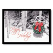 Snow Sled Wreath Holiday Card