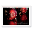 Warm Christmas Ornaments Holiday Card
