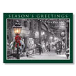 Nostalgic City Shopping Holiday Card