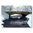 Park Bridge with Wreaths Holiday Card