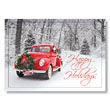 Santa's Decorated Classic Car Holiday Card