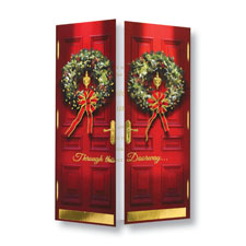 Red Door Wreaths Holiday Card