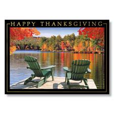 Adirondack Lake View Holiday Card