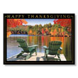 Adirondack Lake View Holiday Card