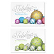 Happy Holiday Bulbs Holiday Card