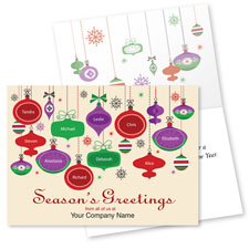 Custom Ornaments Holiday Card
