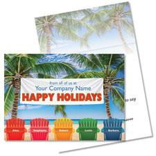 Tropical Company Retreat Holiday Card