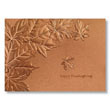 Embossed Copper Leaves Holiday Card