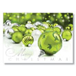 Merry Christmas Bulbs Holiday Card