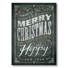 Chalkboard Greetings Holiday Card