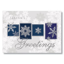 Seasonal Snowflake Greetings Holiday Card